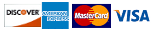Discover, American Express, MasterCard, Visa